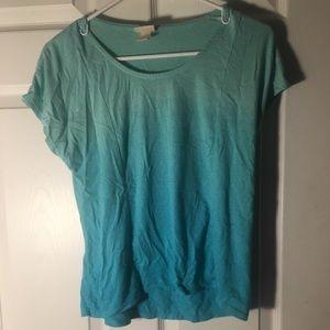 Ombré blue shirt